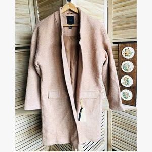 NWT Cozy Wool Blend Boucle Knit Coat